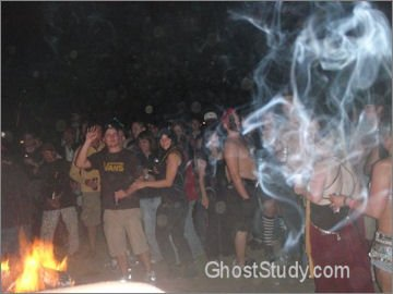 ghost face in the smoke