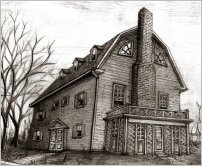 amityville house drawing