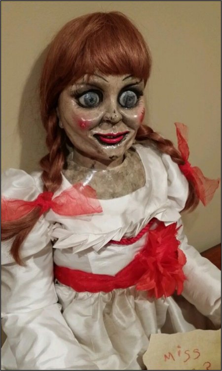 Annabelle  from the movie The Conjuring is one scary doll