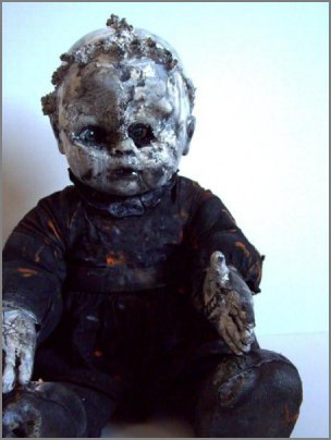 Haunted spooky doll called Burnt Bernice!