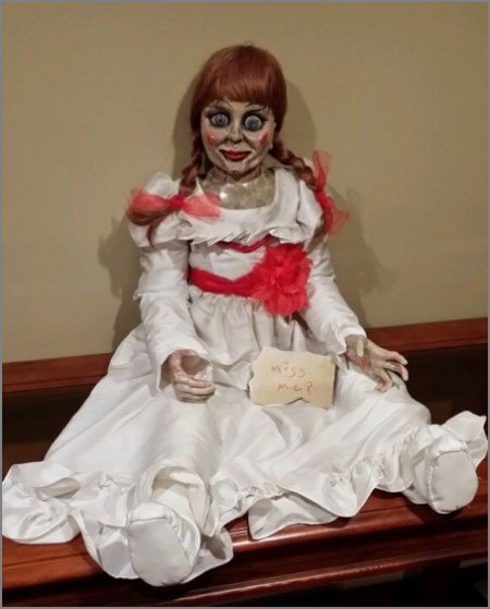 Annabelle the doll from the movie The Conjuring!