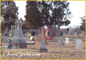 Ghost Man In Cemetery